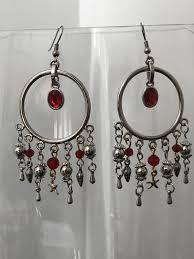 bohemian chandelier earrings red silver earrings hippie earrings gypsy earrings bohemian jewelry handmade earrings ocean charms for in new hill