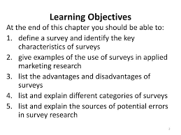 presentation survey examples ppt lecture 22 basics of primary data collection survey research
