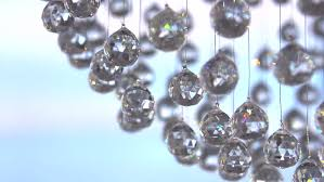 crystals closeup crystal modern chandelier detail background hanging diamonds with blinking shining reflection
