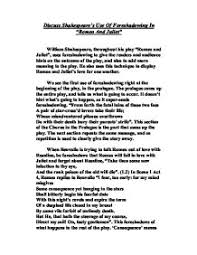 discuss shakespeare s use of foreshadowing in romeo and juliet   william shakespeare · romeo and juliet page 1 zoom in