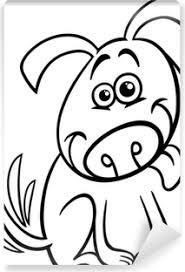 Fotobehang Schattige Hond Kleurplaat Pixers We Leven Om Te