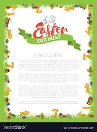 Easter Egg Hunt Invitation Flyer Design With Bunny