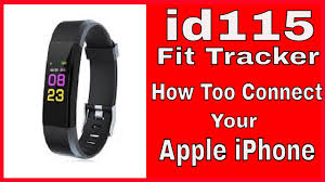 <b>ID115 Plus</b>-<b>Smart Bracelet</b>-How to connect it to your Apple iPhone ...