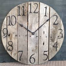 large rustic pallet wood wall clock 100 00 via i want this