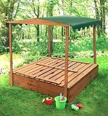 kidkraft outdoor sandbox with canopy canada frame it all hexagon telescoping square