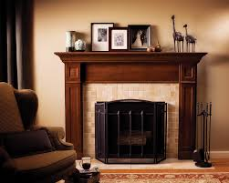 fireplace living room traditional with dark wood coffee table ceil