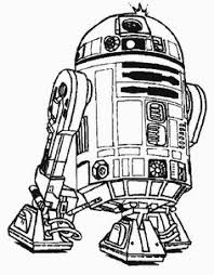 robot r2 d2 star wars coloring pages