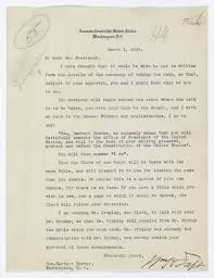 letter from chief justice william howard taft to president herbert letter from chief justice william howard taft to president herbert hoover regarding the oath of office docsteach
