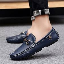 Fashion <b>High Quality Men's</b> Driving Shoes Leather Loafers <b>Casual</b> ...