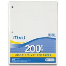 Amazon Com Mead Filler Paper Loose Leaf Paper Wide Ruled Paper