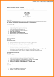 Resume For Post Of Teacher Teaching Jobs Resume Sample 19 Cv