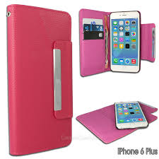 dark pink iphone 6 plus magnetic leather wallet iphone case 01 1 jpg