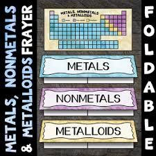 Chart Of Metals Nonmetals And Metalloids Metals Nonmetals And Metalloids Foldable Great For