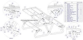 wheelchair accessible picnic table plan parts list