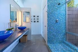 modern palm springs mosaic tile royal blue