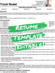 Modern Word Resume Template Teacher Branding 2019 2020 Modern Resume Cv Template Word Resume Editable