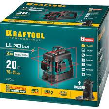 <b>KRAFTOOL LL</b>-<b>3D</b> #<b>2 нивелир</b> лазерный, 3х360, 20м/70м , IP54 ...