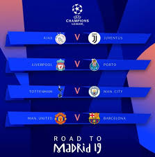 uefa champions league 2018 19 quarterfinal round ties confirmed