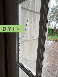 how to repair a broken glass door pane