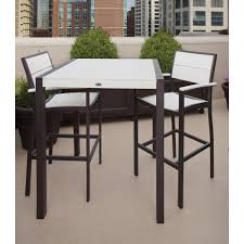 outdoor white furniture. Surf City Textured Bronze 3-Piece Patio Bar Set With Classic White Outdoor Furniture E
