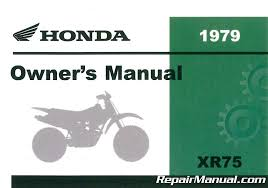 1979 honda xr75 motorcycle owners manual