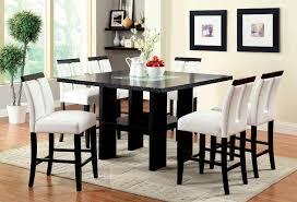 luminar counter height dining room set in black