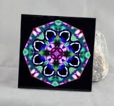 Decorative Tile Coasters Butterfly Decorative Ceramic Tile Coaster Sacred Geometry 63