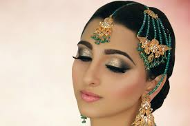 ivory smokey eye with glitter tradtional stani indian asian arabic bridal makeup tutorial you