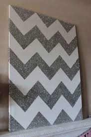 community 18 simple diy canvas wall hangings to brighten any room on chevron canvas wall art diy with glitter chevron canvas diy canvas glitter chevron canvas and