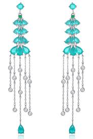 rmont lab created colombian emerald chandelier earrings