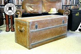 wooden trunk chest leather storage trunk large wooden storage trunk large tan leather storage trunk chests trunks throughout inspirations wooden trunk