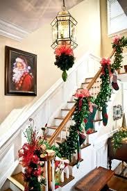 staircase garland ideas catchy slogans winter stair rail