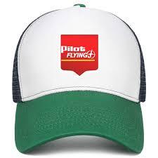 Mesh Hats Stylish Marker Pilot Flying J Flat Cap One Size