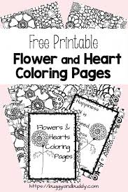 Free Printable Flower And Heart Coloring Pages Buggy And Buddy