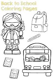 back to school coloring pages for preschool objects colouring magic bus sunday sheets preschoolers back to school