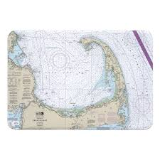 Nautical Chart Cape Cod Ma Bath Rug