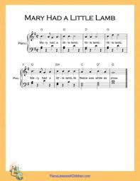 Mary had a little lamb, whose fleece was white as snow. Mary Had A Little Lamb Easy G Major Nursery Rhyme Free Piano Sheet Music Pdf