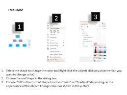 Three Staged Organization Chart Flat Powerpoint Design