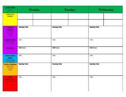 Lesson Plans Blank Template Weekly Primary Blank Lesson Plan Templatekickin Kindergarten