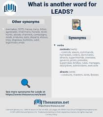 Synonyms For Leads Thesaurus Net