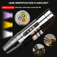 COD] LED UV Đèn Pin Đèn Pin Cầm Tay Nhận Dạng Ngọc Bích/Đá Quý/Trang Sức Màu  Sáng Trắng/Vàng/Tím 3 Trong 1 Giá Rẻ Giá Tàu Miễn Phí