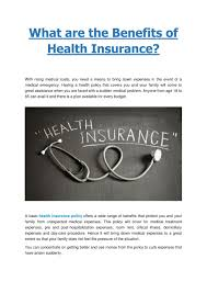 Benefits administrators and others chosen by your the insurance benefits guide contains an abbreviated description of insurance benefits provided by or. Ppt What Are The Benefits Of Health Insurance Bharti Axa Gi Powerpoint Presentation Id 7283560