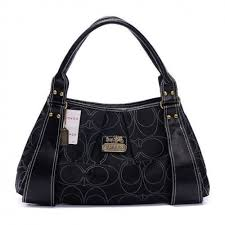 Coach Fashion Signature Large Black Hobo BTW