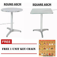 60cm 80cm aluminium stainless steel round or square table