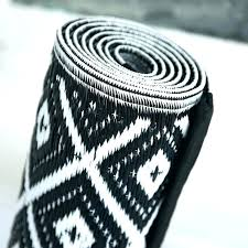 aztec runner rug black and white rug new white outdoor rug outdoor rug in black blue