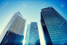 contemporary office building. Contemporary Architecture Office Building Cityscape Personal Perspective Concept Stock Photo - 39415812