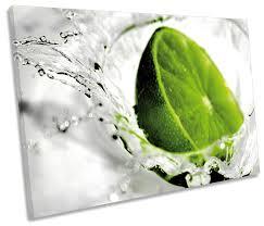 green lime kitchen splash fruit print