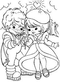 Small Picture Buddy Blue Give Lala Orange a Beautiful Flower in Rainbow Brite