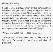 gordon rule essay i need to write a critical revie chegg com gordon rule essay i need to write a critical review on the contribution to economic thought