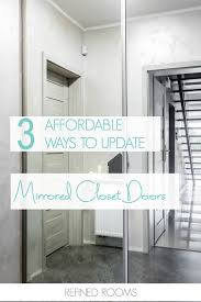 image mirrored closet door. Got Outdated Mirrored Closet Doors? Check Out These 3 Affordable Ways To Update Image Door